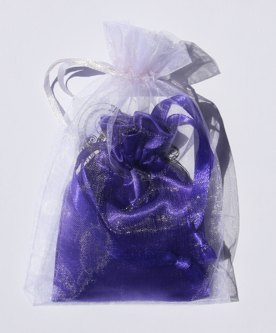 Royal Purple Charmed Satin Pouch