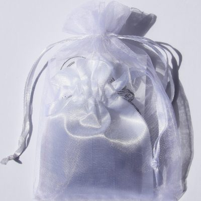Gift White Satin Pouch with Blessing