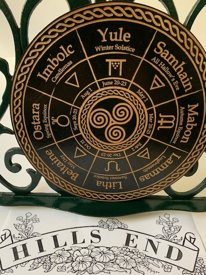 black triskelle wheel pagan calender