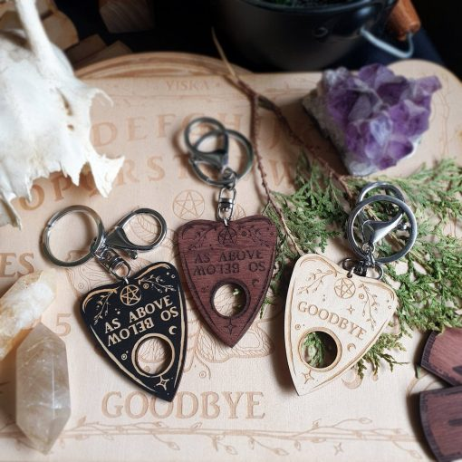 3 plywood planchette keyrings