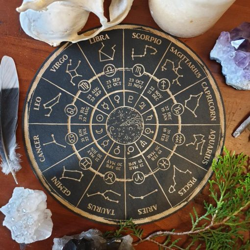 black zodiac plaque